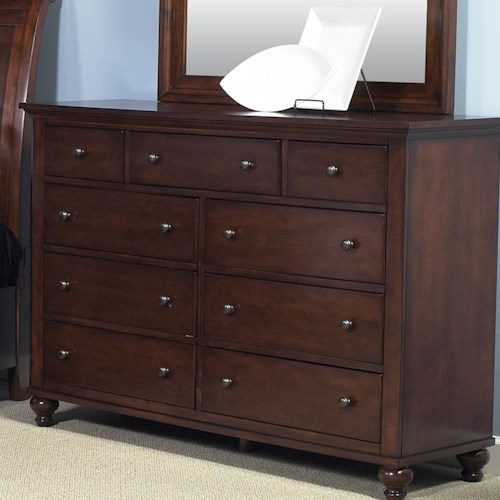 Liberty Furniture Hamilton  Transitional Nine Drawer Dresser