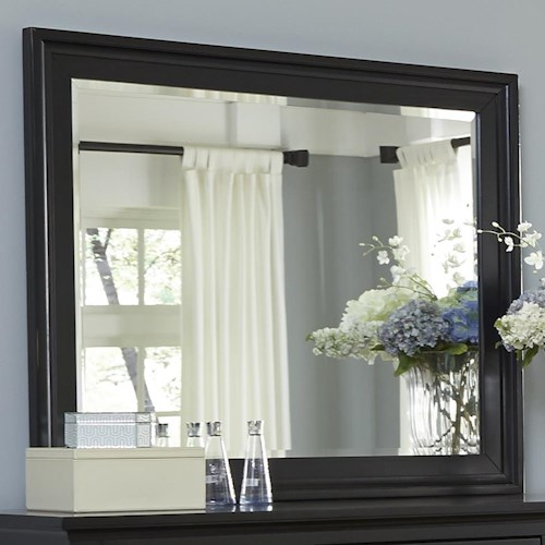 Liberty Furniture Hamilton III Transitional Landscape Mirror with Beveled Glass