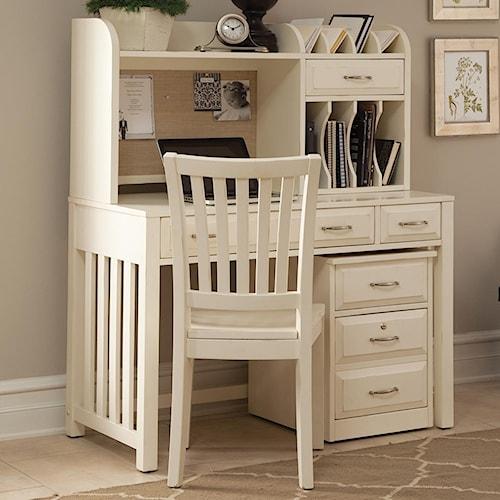 Vendor 5349 Hampton Bay - White Home Office Desk with Hutch