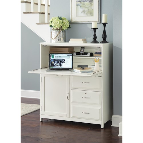 Liberty Furniture Hampton Bay - White Computer Cabinet