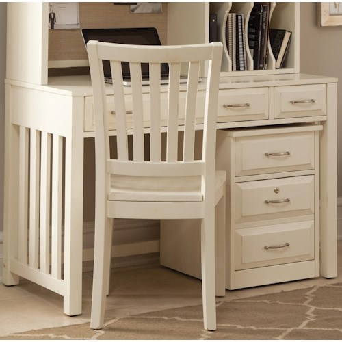 Liberty Furniture Hampton Bay - White Writing Desk with Drawers