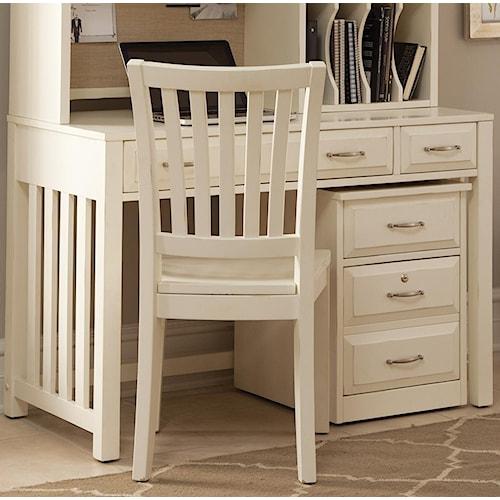 Liberty Furniture Hampton Bay - White Writing Desk with Drawers