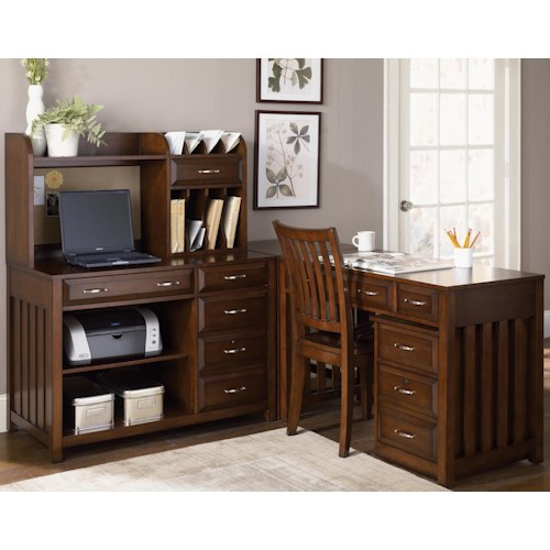 Liberty Furniture Hampton Bay  5 Piece L-Shaped Desk and File Cabinet Unit