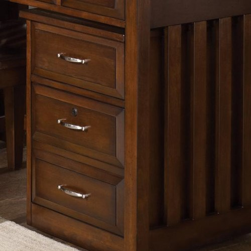 Liberty Furniture Hampton Bay  Mobile File Cabinet with File Drawer Locks