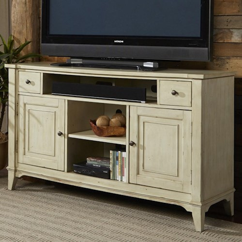 Liberty Furniture Harbor Ridge Rustic Casual TV Console