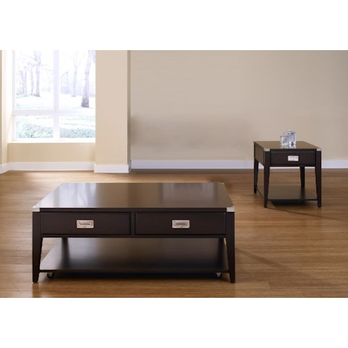 Liberty Furniture Harbor Town  3 Piece End Table and Rectangular Cocktail Table