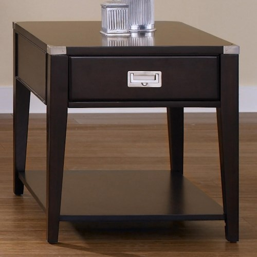 Liberty Furniture Harbor Town  Single Drawer End Table