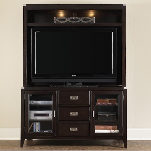 Liberty Furniture Harbor Town  Two Door, Three Drawer TV Stand and Hutch