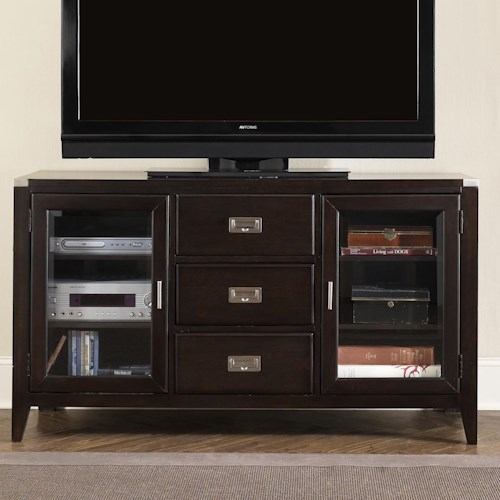 Liberty Furniture Harbor Town  Two Door, Three Drawer Entertainment TV Stand