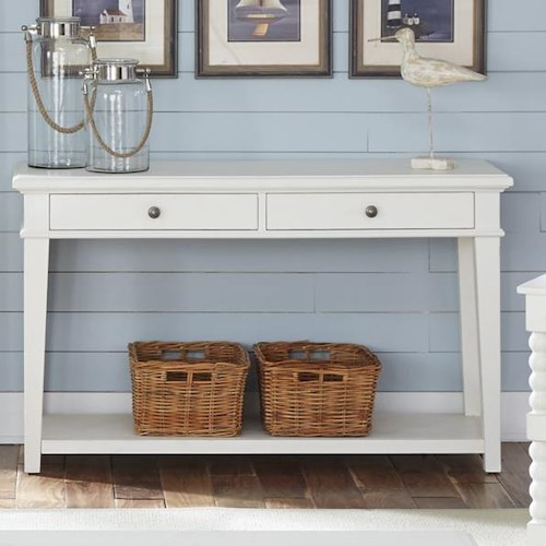 Vendor 5349 Harbor View Rustic Casual 2 Drawer Sofa Table
