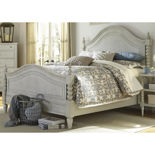 Vendor 5349 Harbor View Queen Poster Bed with Barley Twist Accents
