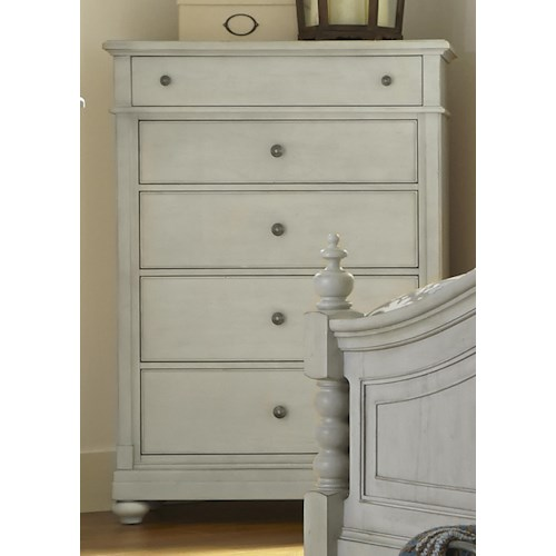 Vendor 5349 Harbor View Chest of Drawers with 5 Drawers and Plinth Base