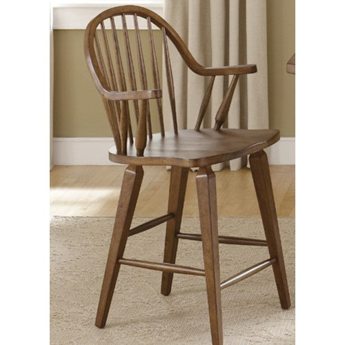 Liberty Furniture Hearthstone 24-Inch Swivel Counter Height Chair