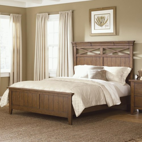 Vendor 5349 Hearthstone Country Style King Panel Bed