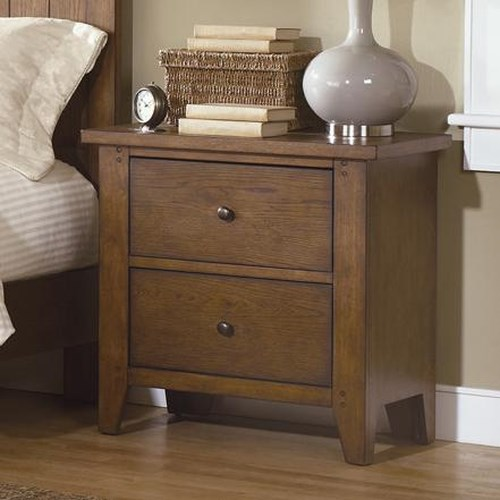 Liberty Furniture Bunker Hill Two-Drawer Nightstand