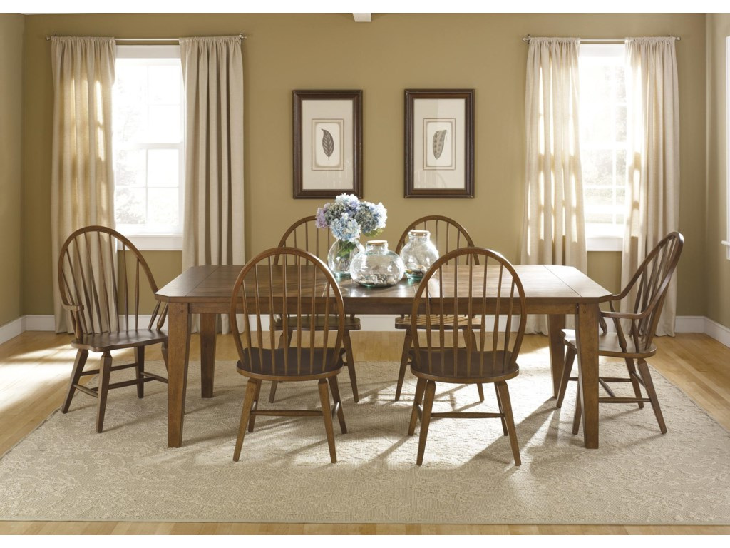 Shown with Rectangular Leg Dining Table and Windsor Side Chair