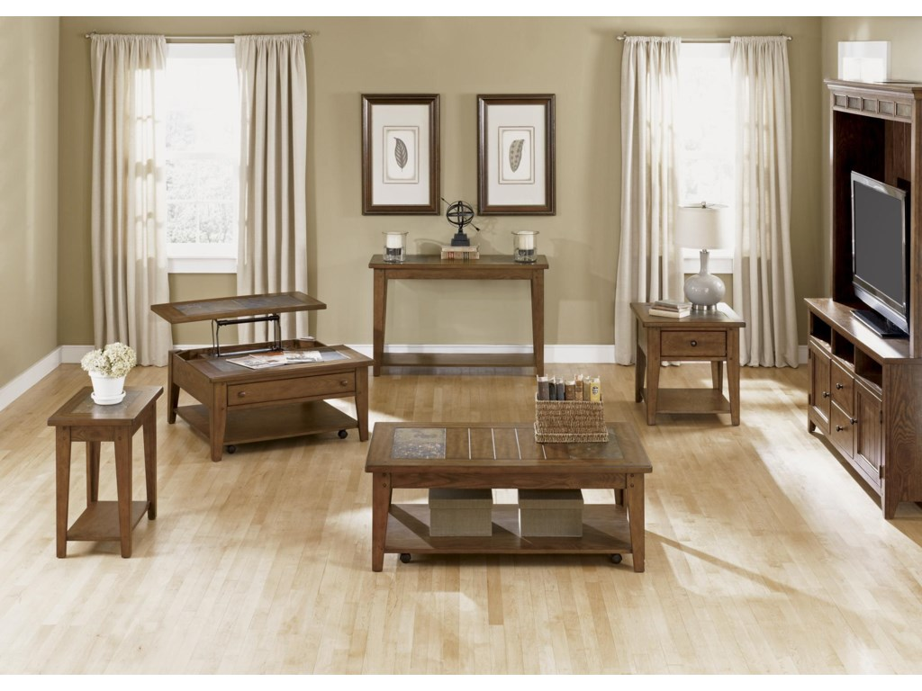 Shown with Chairside Table, Sofa Table, Cocktail Table, End Table and Wall Unit