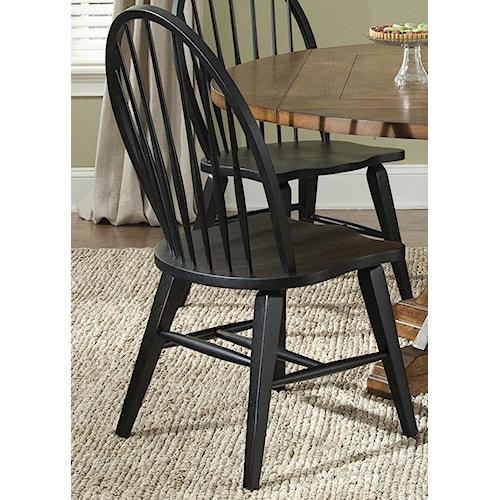 Liberty Furniture Bunker Hill Windsor Back Side Chair