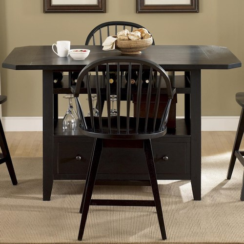 Liberty Furniture Hearthstone Center Island Table with Storage Base