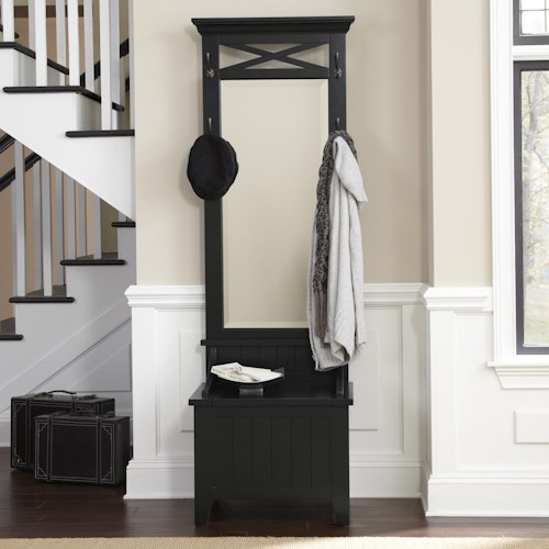 Vendor 5349 Hearthstone Entryway Hall Tree with Mirror and Bench
