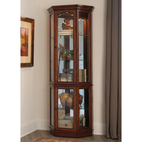 Liberty Furniture Hearthstone Transitional 2 Piece Curio with Mirrored Back