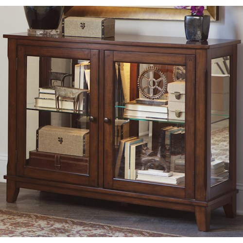 Vendor 5349 Hearthstone Transitional Two Door Console Curio