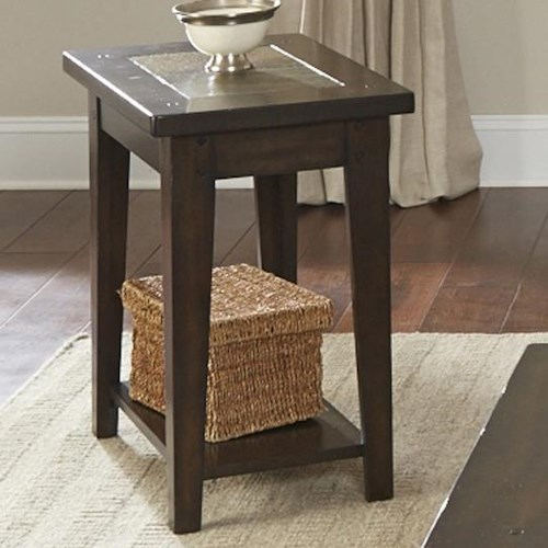 Vendor 5349 Hearthstone Chairside Table with Slate Top