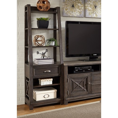 Vendor 5349 Heatherbrook Entertainment Pier Unit with Dovetail Drawer
