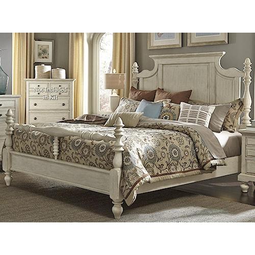 Vendor 5349 697-BR Transitional King Poster Bed