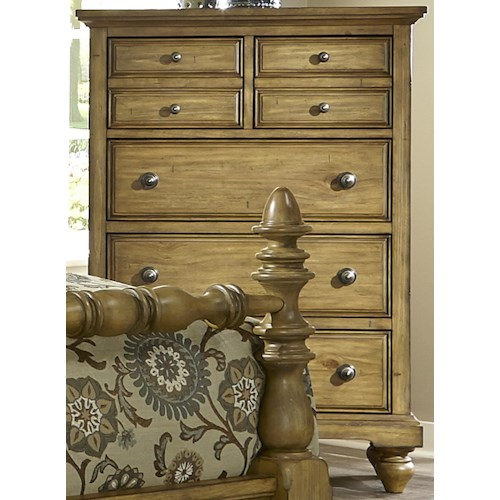 Vendor 5349 High Country Transitional 5 Drawer Chest