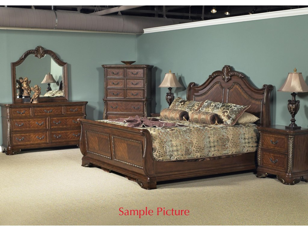 Shown with Dresser, Mirror, Chest, and Night Stand.  Bed Shown May Not Represent Size Indicated