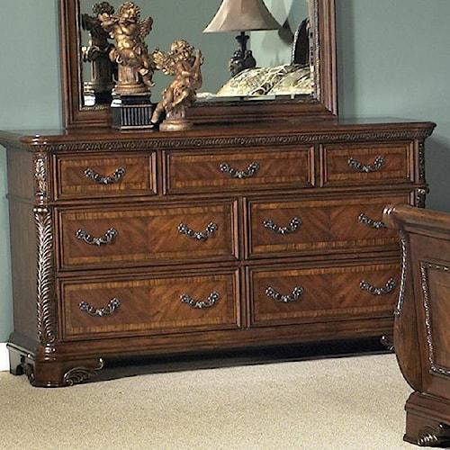 Vendor 5349 Highland Court Traditional Seven Drawer Dresser