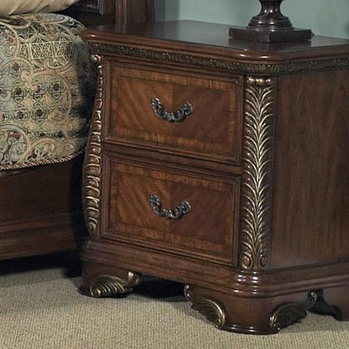 Vendor 5349 Highland Court Traditional Two Drawer Night Stand