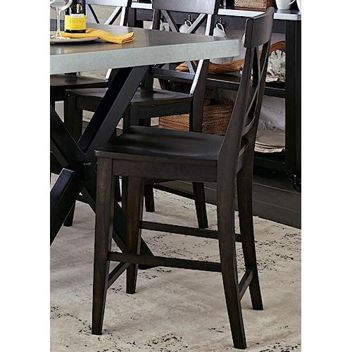 Liberty Furniture Keaton II X Back Counter Chair