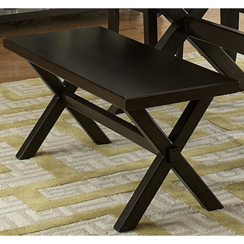 Vendor 5349 Keaton II Backless Dining Bench with Trestle Base
