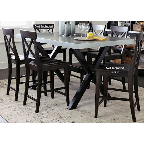 Liberty Furniture Keaton II 5 Piece Gathering Table Set