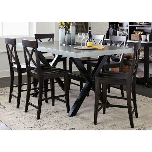 Liberty Furniture Keaton II Casual Gathering Table with Trestle Base