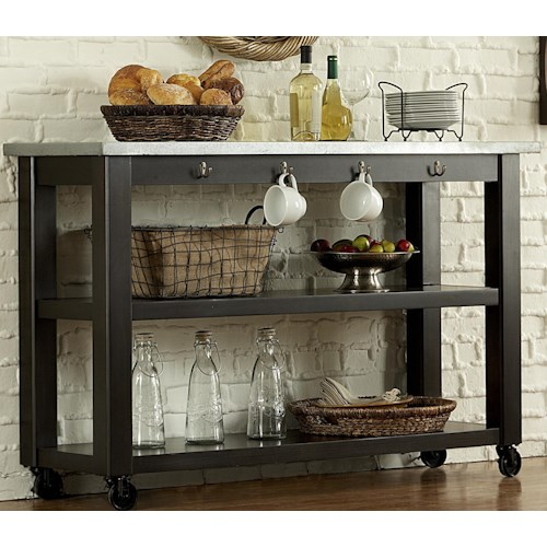 Liberty Furniture Keaton II Kitchen Serving Table on Casters