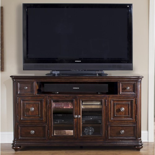 Vendor 5349 Kingston Plantation TV Console with Door and Drawer Storage