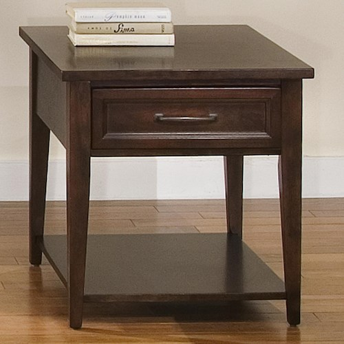 Liberty Furniture Lakewood Rectangle End Table w/ Drawer