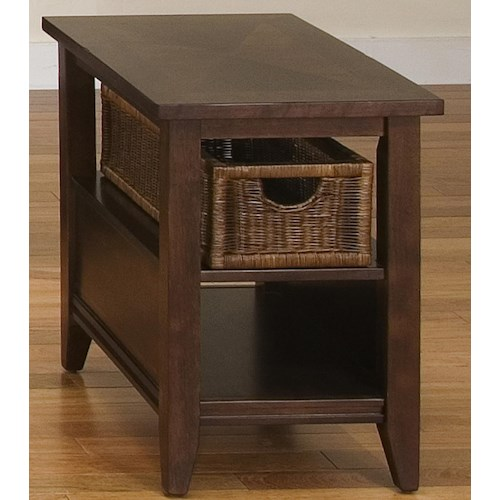 Liberty Furniture Lakewood End Table w/ Basket Drawer