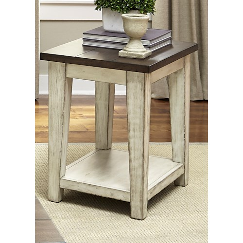 Liberty Furniture Lancaster Occasional  Rustic End Table with Light Distressing