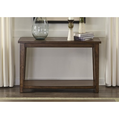 Vendor 5349 Lancaster II Occasional Sofa Table with Shelf