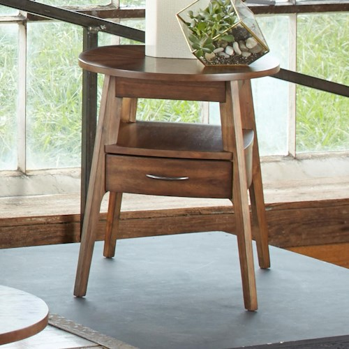Liberty Furniture Landon Occasional Oval End Table with Fully Stained Drawer