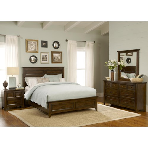 Vendor 5349 Laurel Creek Queen Storage Bedroom Group 3