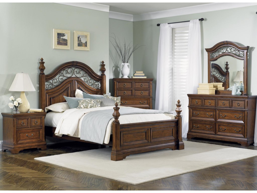 Shown with Nightstand, Poster Bed, & Drawer Chest