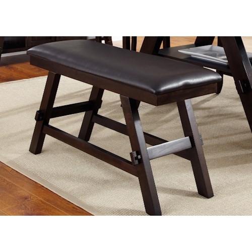 Liberty Furniture Lawson Upholstered Counter Height Bench