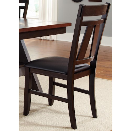 Vendor 5349 Lawson Splat Back Side Chair with Upholstered Seat