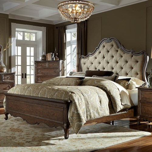 Vendor 5349 Lorraine King Upholstered Bed