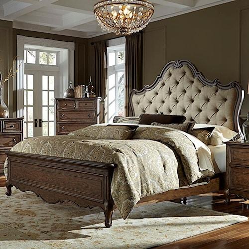 Vendor 5349 Lorraine Queen Upholstered Bed